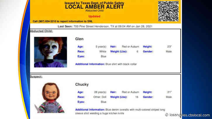 Amber Alert Mistakenly Sent Out For 'Chucky' Doll Of 'Child's Play' Horror Films