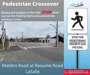 LaSalle Adds Pedestrian Crossing Signal On Malden Road - windsoriteDOTca News