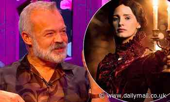 Graham Norton recalls VERY awkward backstage moment with Jessica Chastain - Daily Mail