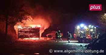 Brennende Hütte in Saulheim: Das sagen Polizei und Feuerwehr - Allgemeine Zeitung