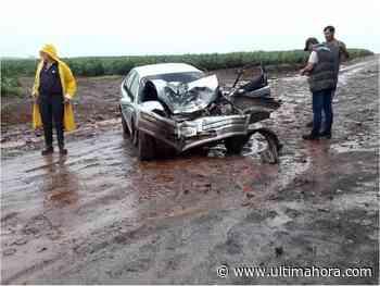 Un bebé sale despedido de un vehículo tras un choque en Edelira - ÚltimaHora.com