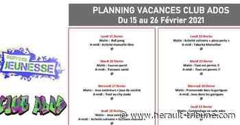 FLORENSAC - Planning pour les adolescents pendants les vacances de février - Hérault-Tribune