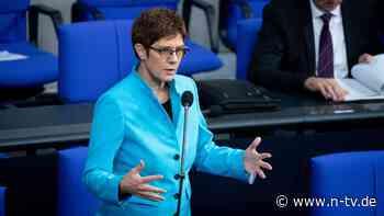 Ex-CDU-Chefin kandidiert: Kramp-Karrenbauer will in den Bundestag