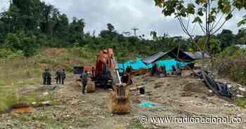 Destruyen entable ilegal de minería en Río Quito, Chocó - Radio Nacional de Colombia