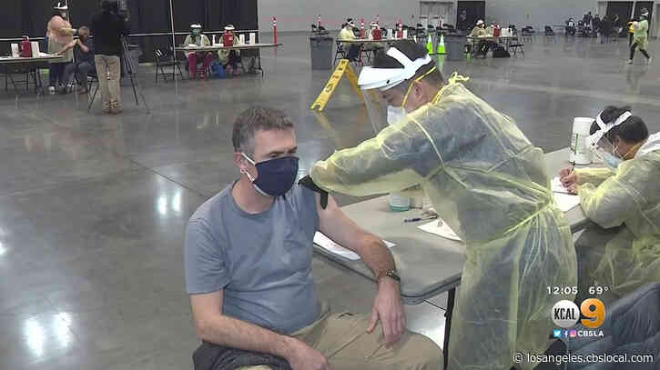 San Bernardino County's Fourth COVID-19 Vaccination Clinic Opens At Ontario Convention Center