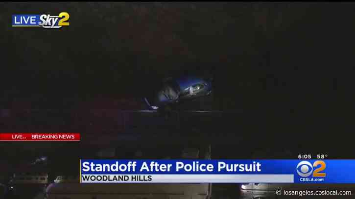 Driver In Custody After Barricading In Car Following Woodland Hills Pursuit