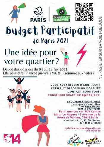 Permanences les Parques pour le quartier Didot – Porte de Vanves, 14è Centre socioculturel Maurice Noguès mercredi 10 février 2021 - Unidivers