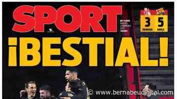 """PORTADA - Sport, con la victoria del Barcelona: """"¡Bestial! Remontada de campeón"""" - bernabeudigital.com"""