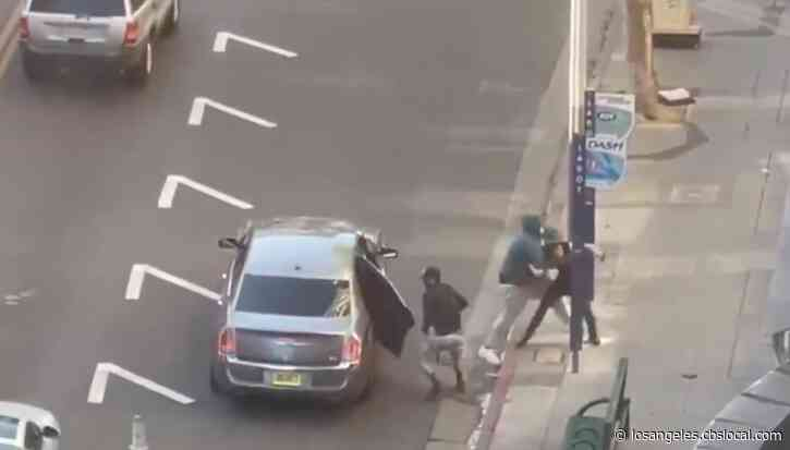 LAPD Looking For Suspects In Downtown LA Armed Robbery