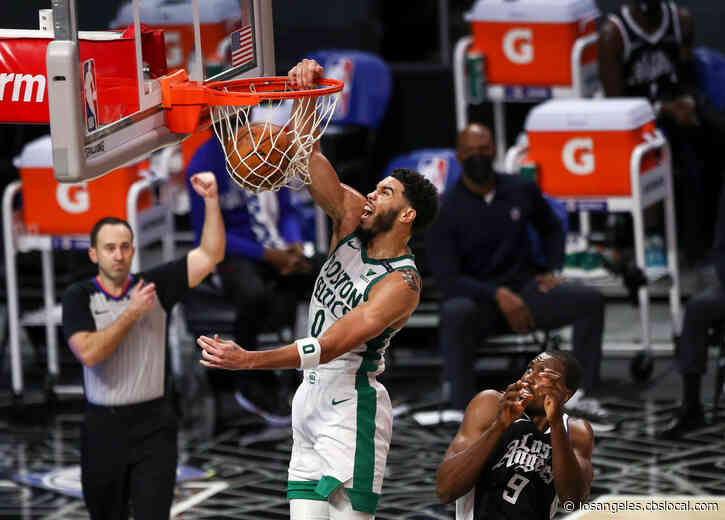 Celtics Edge George-Less Clippers 119-115 Behind Tatum's 34