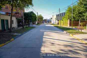 La calle José Verdi de Los Polvorines ya tiene un nuevo tramo asfaltado - Que Pasa Web