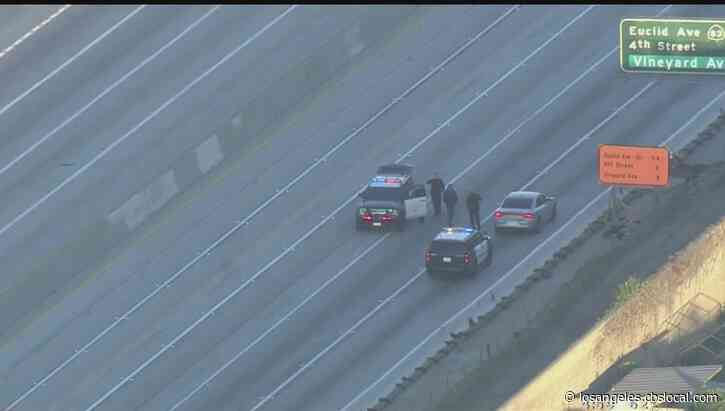 Both Sides Of 10 Freeway Closed In Upland After CHP Officer Shoots Allegedly Armed Man