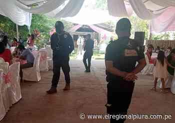 Sullana: intervienen local donde pretendían celebrar quinceañero en Marcavelica - El Regional