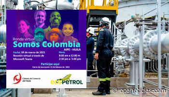 Ecopetrol realizará ronda virtual Somos Colombia en Aipe, Huila - Opanoticias