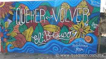 Concluye restauración de murales en Playa de El Bejuco, en LC - Quadratín - Quadratín Michoacán