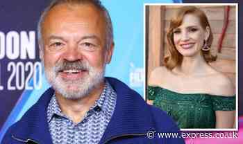 Graham Norton accidentally insulted Jessica Chastain's acting in off-camera moment - Daily Express