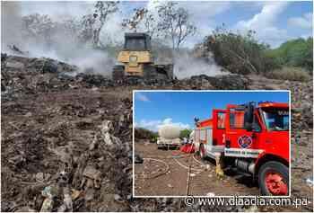 Bomberos avanzan en control de incendio en vertedero de Guararé - Día a día