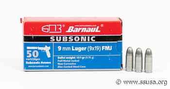 New: Barnaul 9 mm Subsonic Ammunition - Shooting Sports USA