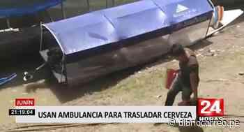 Usan ambulancia pluvial para trasladar cajas de cerveza en Satipo (VIDEO) - Diario Correo
