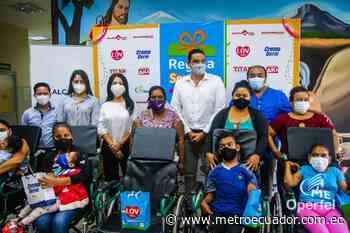 'Regala Sonrisas' donó 5 sillas posturales en Samborondón a beneficio de 5 niños y niñas - Metro Ecuador