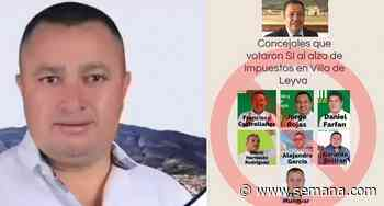 Concejal del Centro Democrático amenazó a líder social de Villa de Leyva - Semana