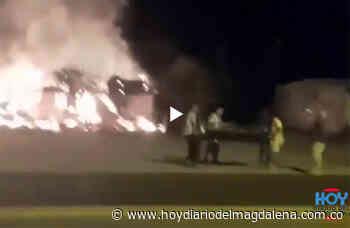#ENVIDEO: Voraz incendio acabó con restaurantes en Pailitas, Cesar - HOY DIARIO DEL MAGDALENA