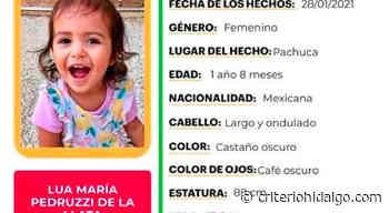 Se busca a Lua María Pedruzzi de la Llata, sustraída en Pachuca - Criterio Hidalgo