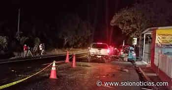 Un fallecido y otro lesionado tras aparatoso choque en Olocuilta, La Paz - Solo Noticias