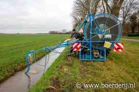 Nieuwsfoto's: Doorspuiten van de drainage - Boerderij