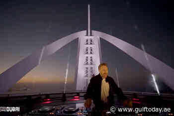 VIDEO: DJ David Guetta performs at Burj Al Arab's helipad for 'United at Home' campaign - Gulf Today
