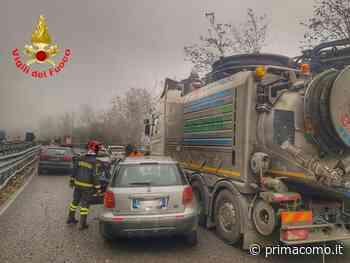 Incidente a Mandello del Lario: 7 auto coinvolte, Statale 36 chiusa verso Milano - Prima Como