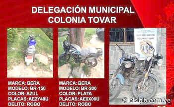Recuperadas dos motos robadas en la Colonia Tovar - Diario El Siglo