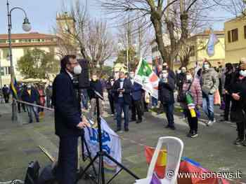 Unioni civili, Mazzeo al presidio di Collesalvetti - gonews