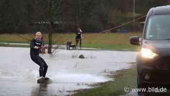 Wiese statt Meer wegen Hochwasser - Wakeboard-Wahnsinn in Nidderau - BILD