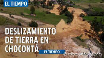 Deslizamiento de tierra en Chocontá - El Tiempo