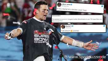 Von LeBron James bis Neymar: So reagiert die Sportwelt auf die Brady-Show beim Super Bowl - Sportbuzzer