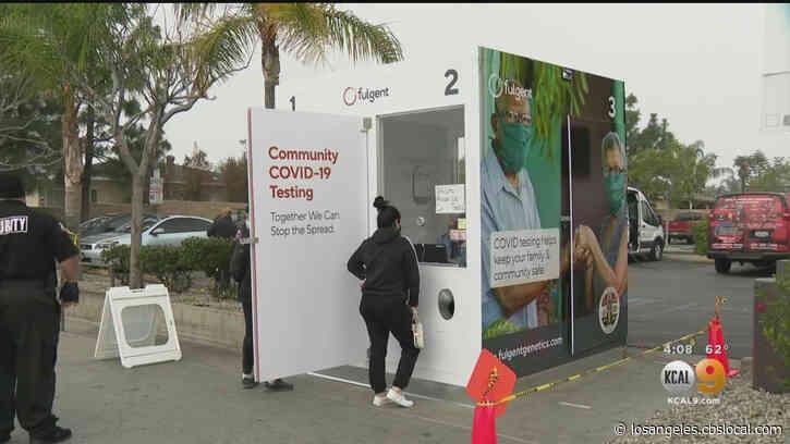 Vallarta Supermarkets Opens COVID Testing Kiosk Outside Pacoima Store