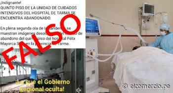 Junín: desmienten que sala UCI del hospital de Tarma está abandonada - El Comercio Perú