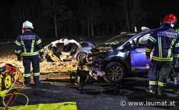 Drei teils Schwerverletzte nach heftiger Kollision auf Rieder Straße bei Rottenbach - laumat|at