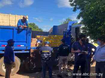 Incautan productos supuestamente de contrabando en Quiindy - Nacionales - ABC Color