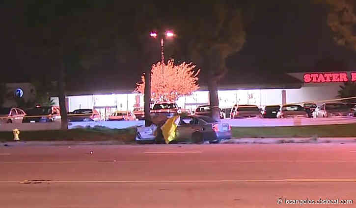 Man Killed After Car Slams Into Tree In Rowland Heights