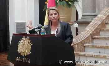 """Presidenta Áñez califica de perversa la acusación a Sucre como """"ciudad racista"""" - La Voz de Tarija"""
