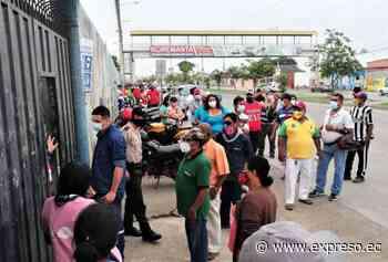 Elecciones 2021: Aglomeraciones y retraso en Machala - expreso.ec