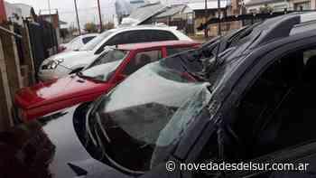 Impactante temporal de viento en Rio Gallegos - novedadesdelsur.com.ar