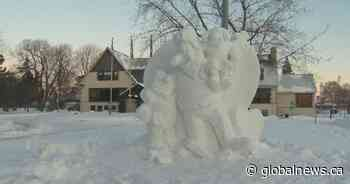 Snow sculptures brighten up the city of Dorval - Global News