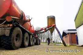 Nieuwsfoto's: Mest verpompen van kelder naar opslag - Boerderij