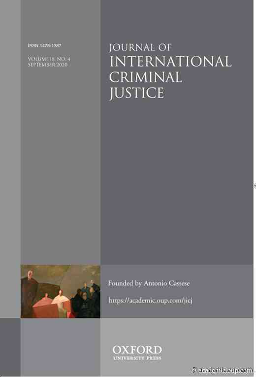 No Justice Without Peace, But What Peace Is on Offer?Palestine, Israel and the International Criminal Court