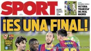 """PORTADA - Sport: """"Victoria 'francesa' del Real Madrid"""" - bernabeudigital.com"""