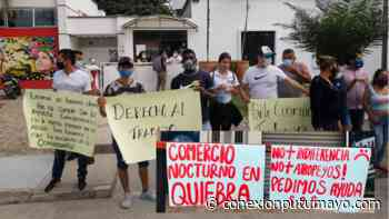 Comerciantes nocturnos de Puerto Caicedo advierten de irse a la quiebra por medidas locales - Conexión Putumayo