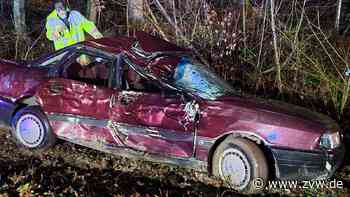 Von der Straße geschleudert: Schwerer Unfall zwischen Burgstall und Affalterbach - Blaulicht - Zeitungsverlag Waiblingen - Zeitungsverlag Waiblingen